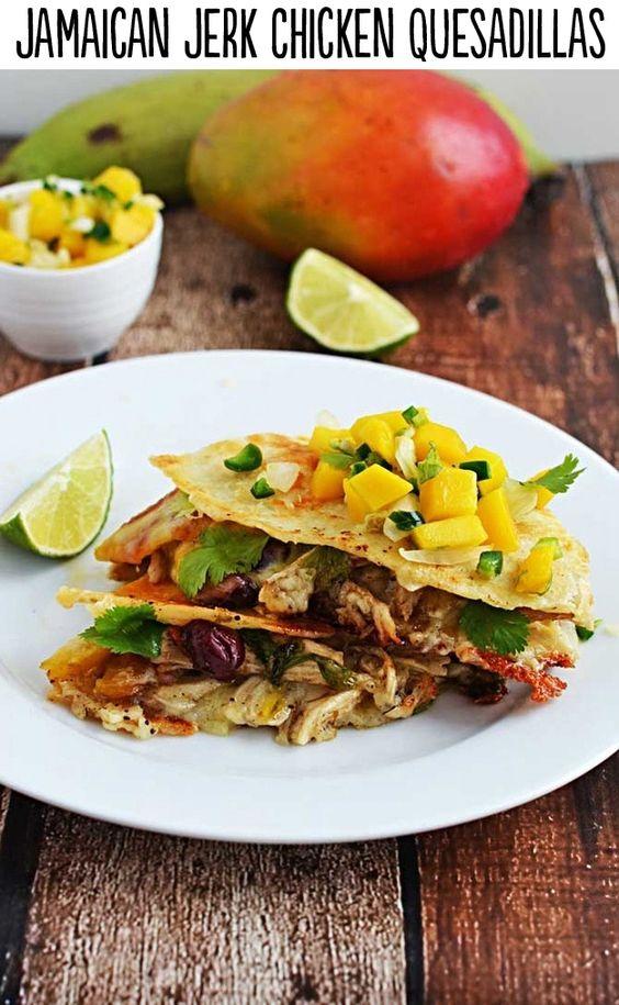 jamaican jerk chicken quesadilla jerk quesadillas flavorful ...