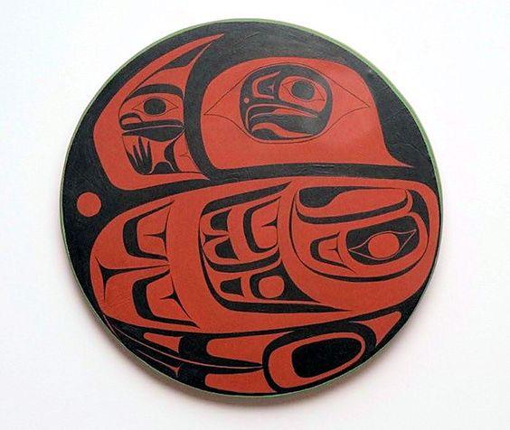 Eagle Drum By Haida Artist Reg Davidson Native Art