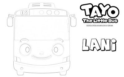 Tayo The Little Bus Halaman Mewarnai Warna Gambar