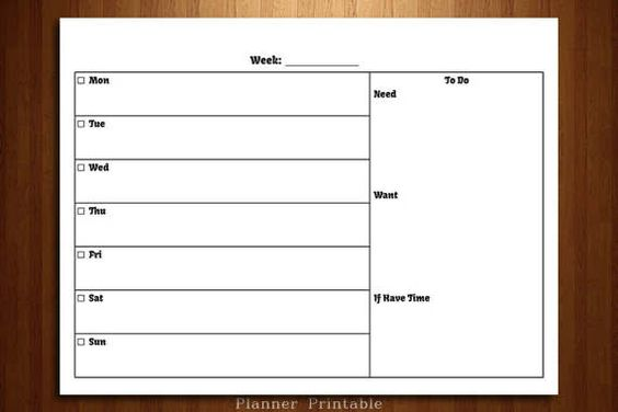 Weekly Agenda Planner PRINTABLE A4 + US Letter Planner Pages - weekly agenda