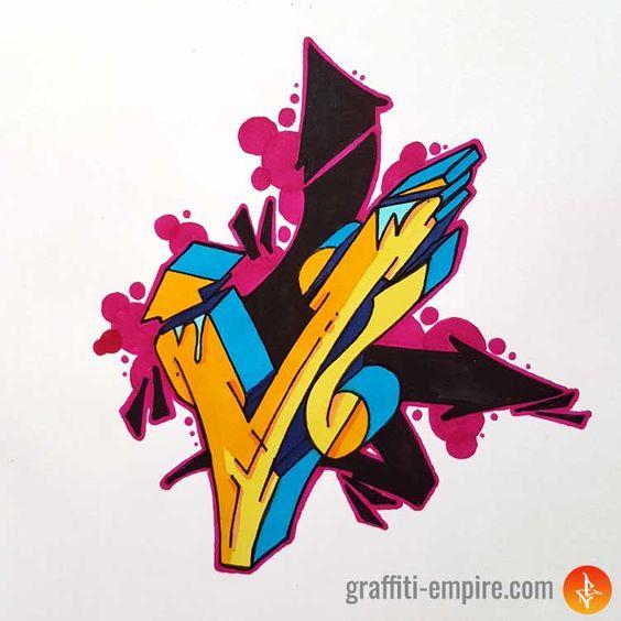 Graffiti Letter V Inspirational Images And Tutorial Graffiti Empire Graffiti Art Letters Graffiti Lettering Graffiti