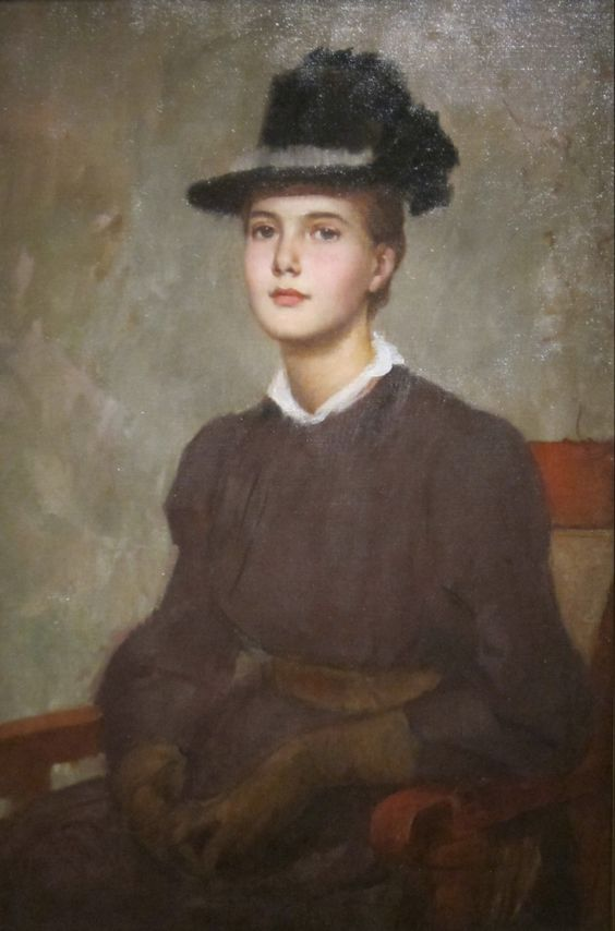 Marie Danforth Page (c.1889). Frank Duveneck (American, 1848-1919). Oil on canvas. Cincinnati Art Museum. Page (American, 1869-1940) was a popular and successful portraitist who painted, among many...