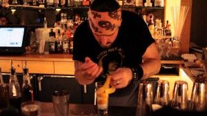 Tiki Master Brian Miller in scene from Spirit Guides: The Return of Craft Bartending in New York by Jesse White.