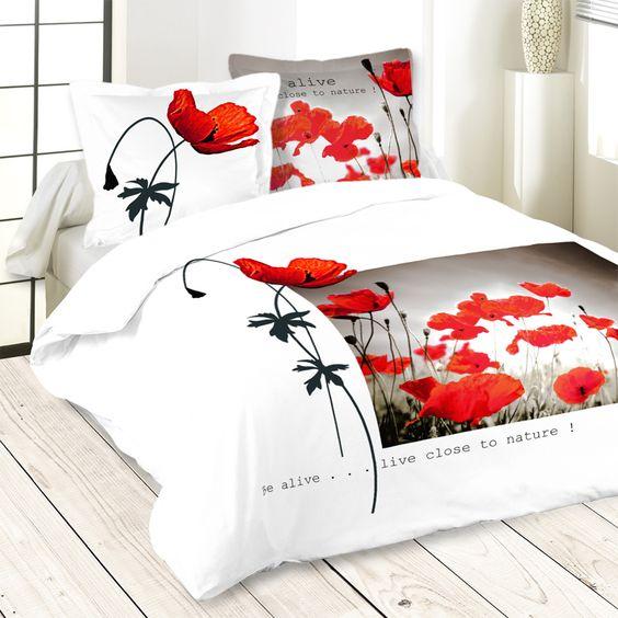 Bettbezug Alive 240x260cm 100% Baumwolle Set bestehend aus: Ein 240x260cm Bettbezug gedruckt Zwei Kissenbezuges 63x63cm Kissen 100% hochwertiger Baumwolle, 57 Sohn / cm²