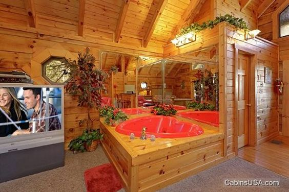 Resorts romantic and the two on pinterest for Gatlinburg cabins for couples