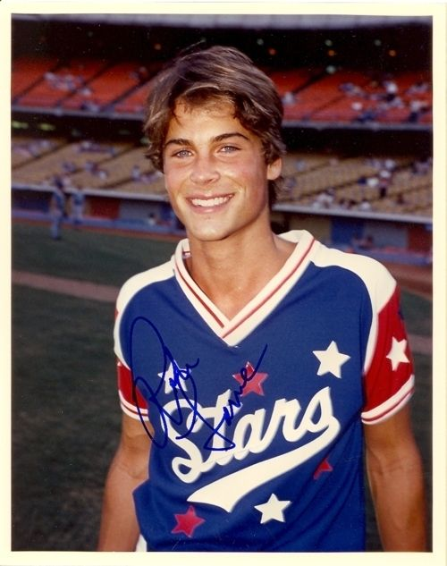 When he was pubescent and sun-kissed at a this baseball game. | 27 Flawless And Perfect Photos Of Young Rob Lowe