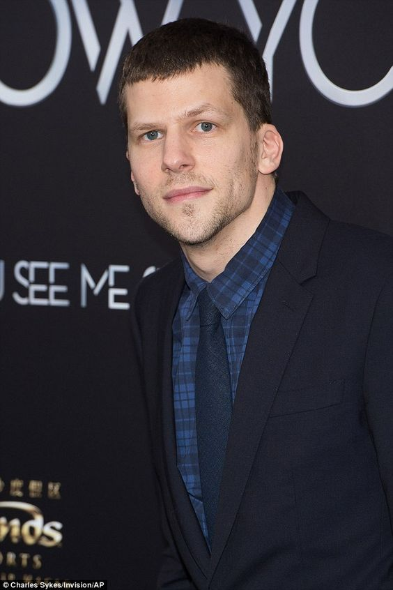 Jesse Eisenberg at the premiere of Now You See Me 2 | Daily Mail Online