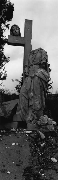 Josef Koudelka. Civil war. April 1992. Croatia. Vukovar (occupied by Serbs). Cemetery.