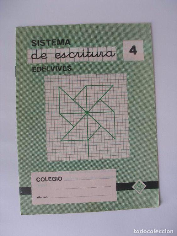 Lote de cuatro cuadernillos sistema de escritura Edelvives nº 4 - Sin uso