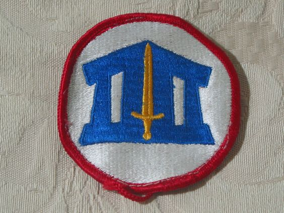 MILITARY SHOULDER PATCH Reserve Officers Training Corps (ROTC) Vietnam Era Used  Junk_589  http://ajunkeeshoppe.blogspot.com/