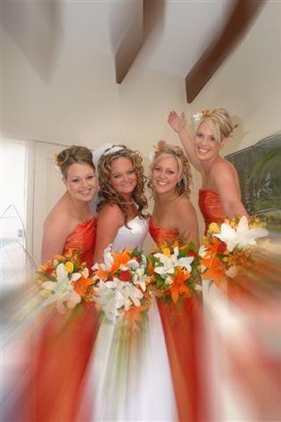 True Bride | Orange Bridesmaid Dresses