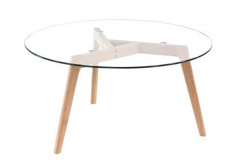 Table Basse Scandinave D90cm Verre Tarja Plus De Details Table Basse Scandinave Table Basse Et Table