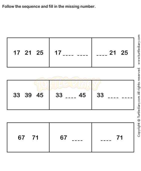math worksheet : number sequence worksheet 6  math worksheets  kindergarten  : Number Sequence Worksheets For Kindergarten