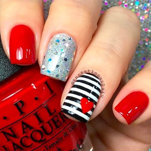 22 Best Valentine S Day Nail Designs For 2018 Nail Art Hq Naturalnails Valentine S Day Nail Designs Nail Designs Valentines Toenail Art Designs