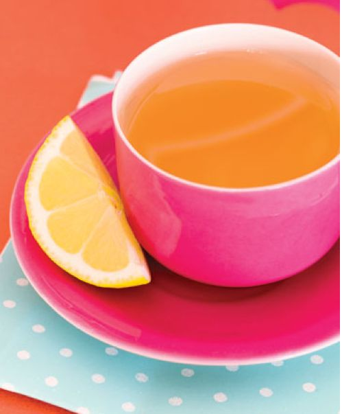 Hot tea and hot pink.  Great combination.
