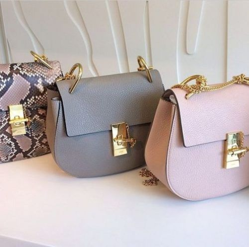 Chloe Paris Marcie small grey, pink bag- Chloe drew cross body bags http://www.justtrendygirls.com/chloe-drew-cross-body-bags/