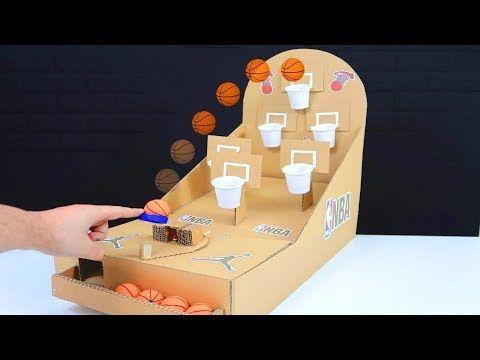 Como Hacer Un Juego De Baloncesto Con Cartón Totalmente Casero Youtube Como Hacer Juegos Juegos Con Material Reciclado Juegos Baloncesto