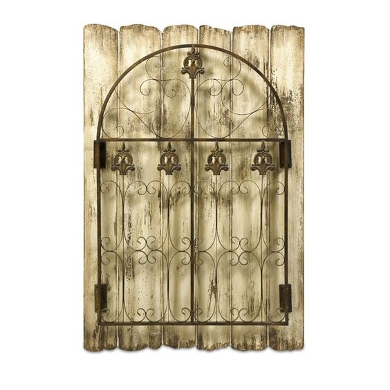 Garden Gate Wall Decor evans iron garden gate - shabby chic meets cottage comfort with