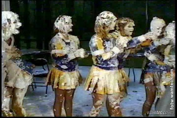 Backstage: Cam# Spectator - MAKING The Cheerleaders Pie Fight Gallery