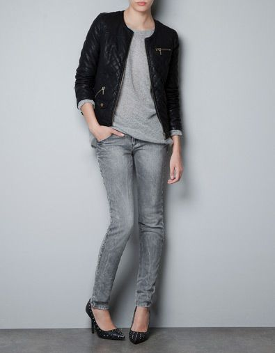 QUILTED JACKET - Jackets - TRF - ZARA Norway