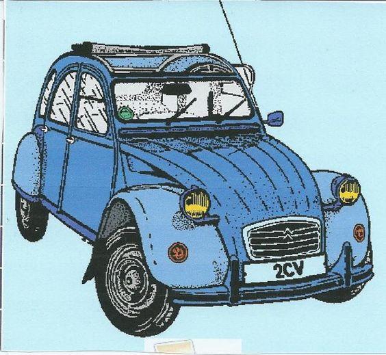 dessin de voiture a imprimer 2cv ma voiture est la plus. Black Bedroom Furniture Sets. Home Design Ideas