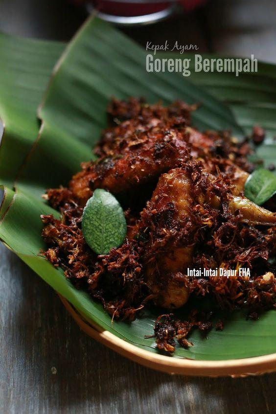 Intai-Intai Dapur FHA: Kepak Ayam GORENG BEREMPAH yang best ...
