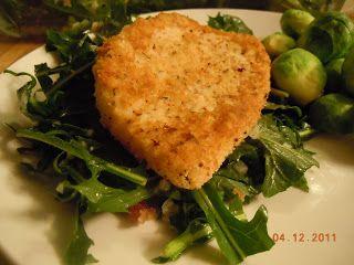 the cavegirl dish: Calamari Steaks and Dandelion Greens with Warm Bacon Vinaigrette