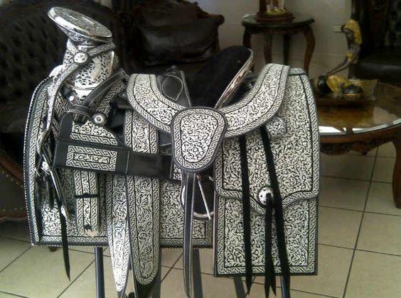 sillas para caballos monturas charreria montura