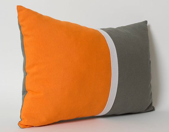 Orange And Grey Decorative Pillows Alepsi For Enchanting Gray And Orange Decorative Pillows