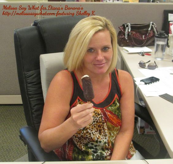 "Diana's Banana's Review by Melissa Say What featuring ""Shelley K"" -- Frozen Bananas Covered in Chocolate available at your local grocer or by ordering online!! MELISSA SAY YUM!"