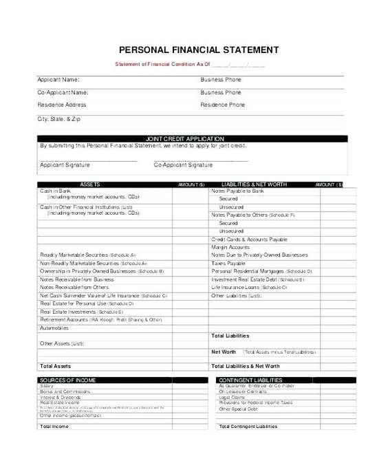 Free Statement Of Account Template Bank Secured Loan Agreement Uk