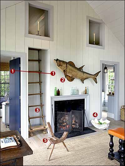Sag Harbor House By P T Interiors With Images: Rope Ladder To Sleeping Loft! A Sag Harbor Summer Cottage That's Open And Airy