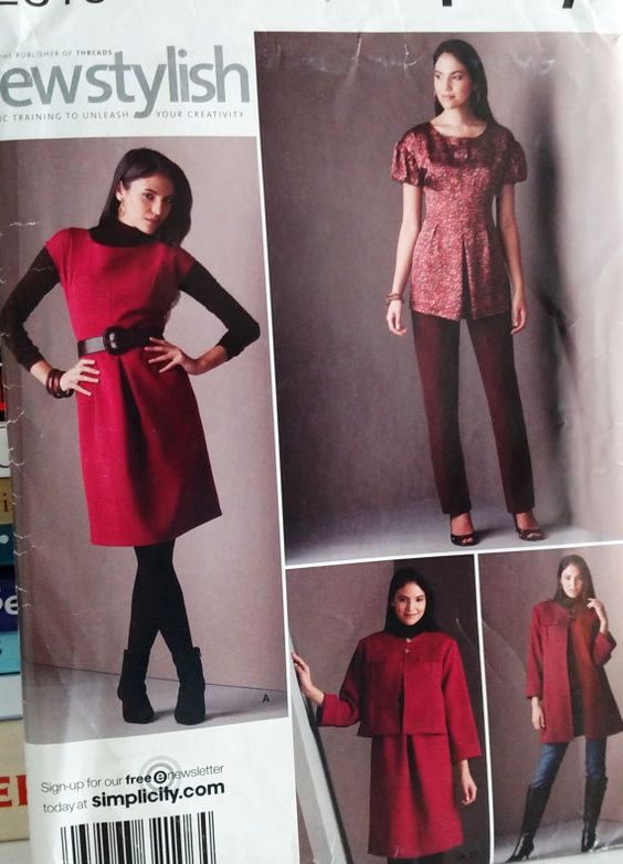 2008 Simplicity Sewstylish Pattern  by PaperWardrobesEtc on Etsy