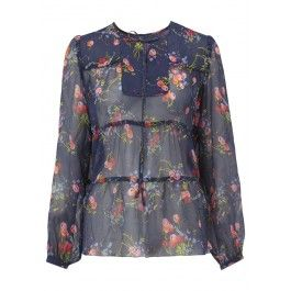 Anna Sui Cherry Bouquet Blouse
