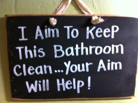 I aim to keep this bathroom clean your aim will help for How to keep a toilet clean