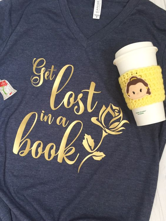 Get Lost in a Book  Beauty and the Beast by ShopQueenofHeartsCo