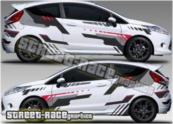 Ford Fiesta Rally Graphics Stiker Mobil Kijang Mobil