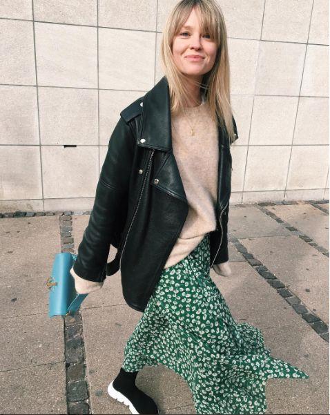 Ganni street style | Jeanette Friis Madsen | Capella Mesh skirt: