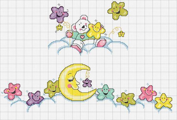 Bear, moon and stars