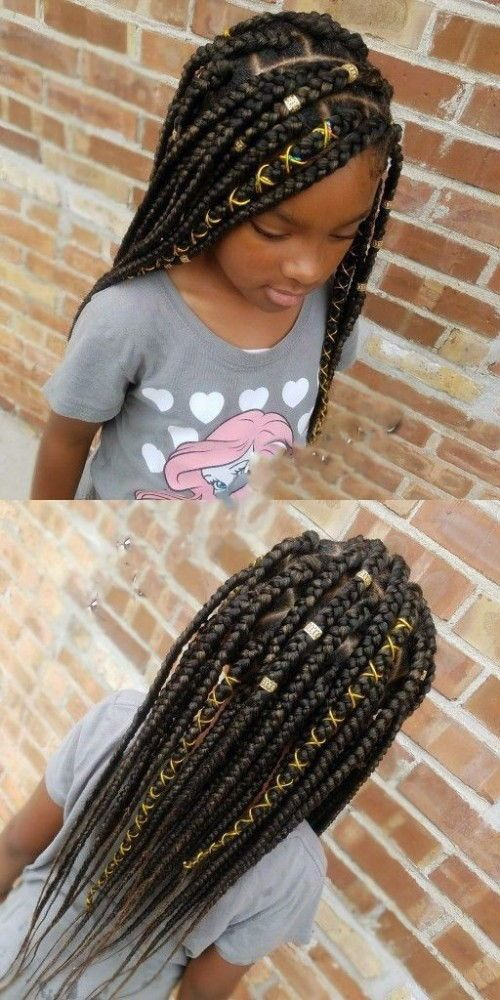 Black Kids Hairstyles With Braids Beads And Accessories Little Girl Braids Black Kids Hairstyles Little Girl Box Braids