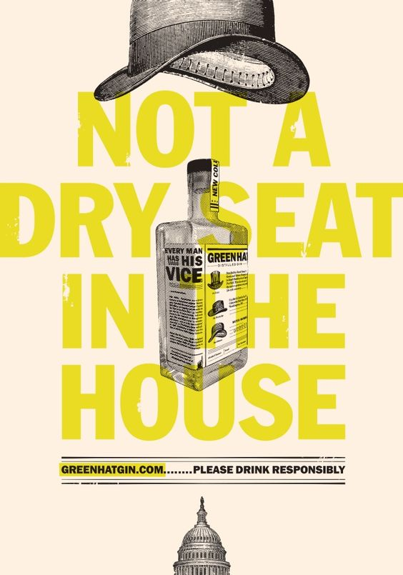 Yellow #gin #color #colour #poster #design