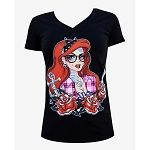 Women's Tattooed Mermaid - V Neck Tee by Lowbrow