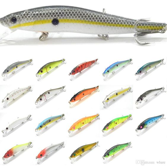 Fishing lure minnow crankbait hard bait fresh water for Fishing bait and tackle