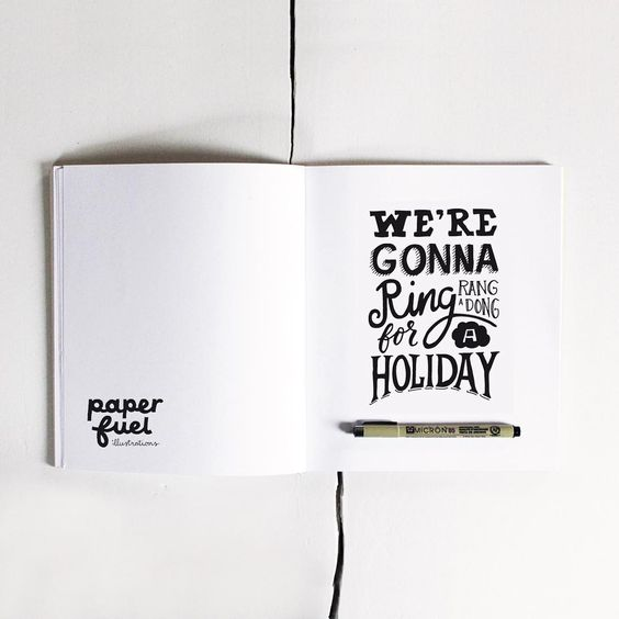 Almoost a clear vision of holiday!! :-D #lettering #handlettering #typography  #paperfuel