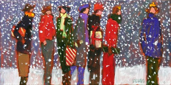 Claude A. Simard, R.C.A. (1943-2014) The Christmas Crowd, 2013