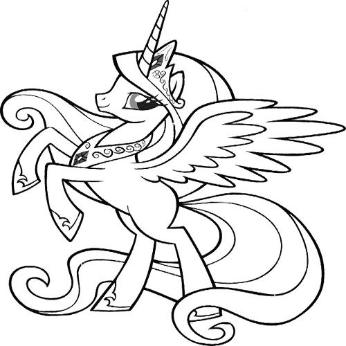 Cute My Little Pony Coloring Page