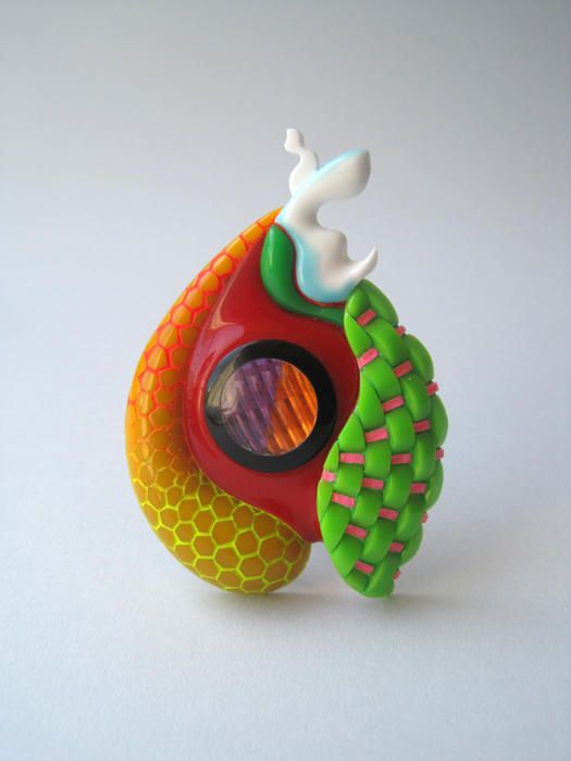 Brooch, 2011 acrylic, PVC, resin - Peter Chang