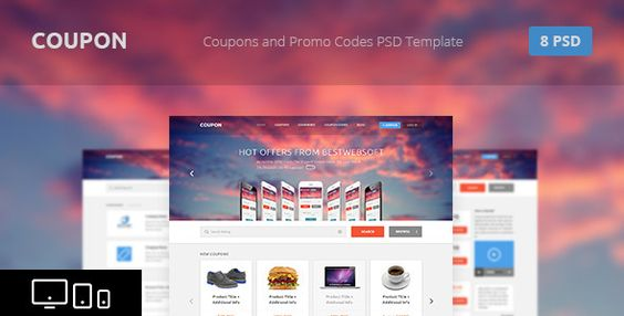 Coupon - Coupons and Promo Codes PSD Template Psd templates - coupons design templates