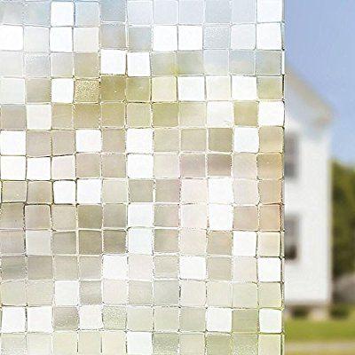Amazon Rabbitgoo 窓 めかくしシート ガラス 窓用 フィルム 目隠し 遮光 断熱 結露防止 リメイク 日よけ 風呂 浴室 食器棚 ベランダ 窓ガラス 目隠しシート 断熱シート 結露防 Window Film Privacy Decorative Window Film Window Tint Film