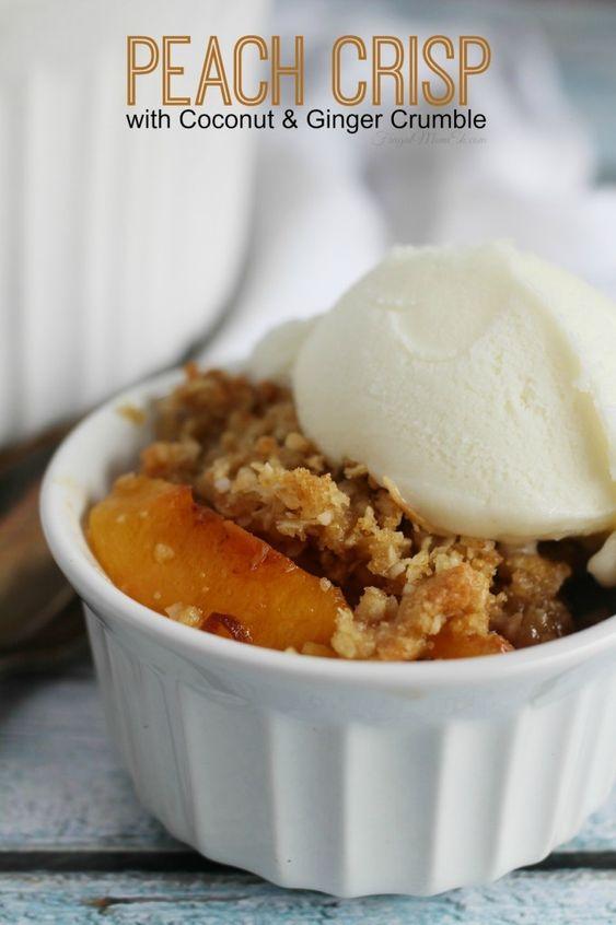 Coconut, Peaches and Peach crisp on Pinterest